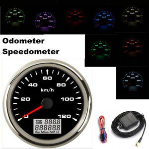 85mm GPS Speedometer Gauge 120 KM/H Odometer For Boat Car Truck Motorcycle ATV