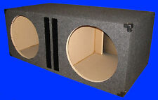 "2 HOLE 15"" 3.0 PER CHAMBER PORTED 3/4MDF GREY SUBWOOFER SUB ENCLOSURE BOX"