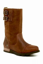 NEW SOREL Major Pull On Boot Women's 6 Grizzly Bear Leather Oiled Suede MSRP$170