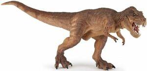 Papo T-Rex Running Brown Dinosaur Prehistoric figure Replica 55075 NEW