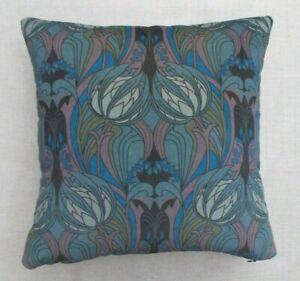 "Liberty Arts Fabric Cushion Cover 'KATE NOUVEAU - VELVET BLUE' - 18"" -  VELVET"