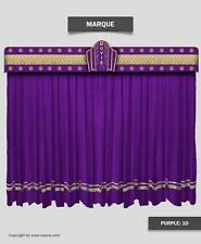 Saaria Marque Decorative Stage Curtains & Movie Theater Valance Curtain 8'Wx8'H