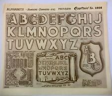 Craftaid Leather Stencil - Alphabets, Borders, Corners Pattern No. 2808
