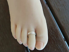 925 Sterling Silver (plated)toe Ring Size Adjustable Buy 2 Get The 3rd .
