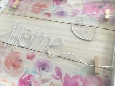 🌸🌸🌸 HOME - Vintage Wanddeko für Bilder & Andenken im weissen Rahmen-NEU🌸🌸🌸