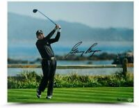 "GARY PLAYER Autographed ""Tee Shot on 18"" 16 x 20 Photograph UDA LE 1/25"