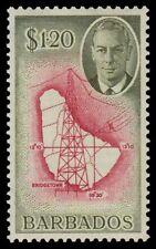 "BARBADOS 226 (SG281) - KGVI ""Map of the Barbados"" (pa55739)"