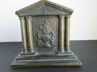 Bouquet and Urn Iron Bookend - (One Available) - Circa 1920