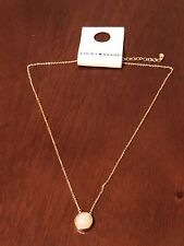 lucky brand gold plated set stone pendant necklace new with tags
