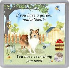 "Shetland Sheepdog Coaster ""If you have a garden ....."" Novelty Gift by Starprint"