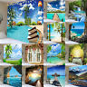 Nature Wall Hanging Ocean Sea Coast Landscape Mountain Cave Waterfall Tapestry