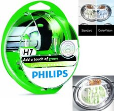 Philips ColorVision H7 55W Green Two Bulbs Head Light Low Beam Reflector Upgrade
