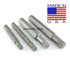 Jawco 4pc Metric Spline Triple Square Star Manifold Wrench Bits 12pt 6-12mm USA