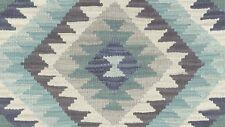 Barbara Home Ikat Wallpaper-Indigo, Blue and Grey