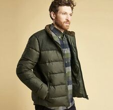 Barbour Dhow Quilted Green Puffer Wool Jacket Mens Size Medium New $280