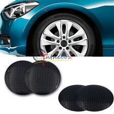 4PC 56.5mm Carbon Fiber Print Aluminum Car Wheel Center Hub Cap Emblems Stickers