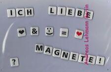 Mit Magnete schreiben 3x Buchstaben Zahlen Sonderzeichen Kühlschrankmagnet Info