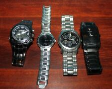 4 Vintage watch Lot Unlisted,  Citizen Eco-Drive, Fossil Charles Raymond