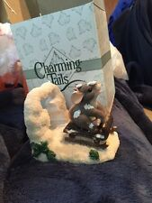 Charming Tails Dashing Through The Snow Figurine Nib