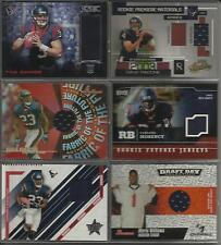 Houston Texans Event Worn Used Jersey 6 Card Lot 2003-2014 Football