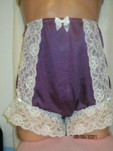 Handmade Full Cut Nylon Tricot Tall Granny Brief Sissy Panties  Sz42