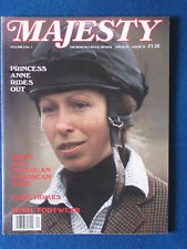 Majesty Magazine - May 1987 - Vol 8 - No 1 - Royalty - Princess Anne Cover