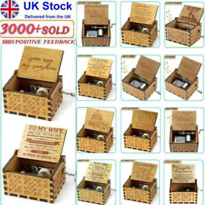 Wooden Engraved Music Box - You Are My Sunshine - Gift for Family - UK Fast Post