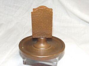 VINTAGE Hammered Copper Arts & Crafts / Mission  Match box Holder/Ashtray NICE