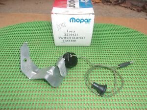 1970-1976 Dart Duster Demon Valiant NOS MoPar CLUTCH STARTER SAFETY SWITCH