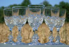 Saint Louis - Service de 6 verres en cristal taillé, service Massenet
