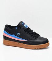 FILA x Pink Dolphin T1 Mid Black & Gum Shoes US UK NIB Mens Ghost Size 4 - 7.5