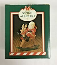 Midwest Cannon Falls Santa Riding Rocking Reindeer Resin Figurine With Box