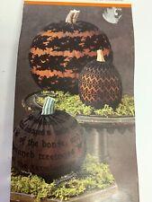 Martha Stewart Pumpkin Sleeves 3-Pack Autumn Halloween Decor NIP