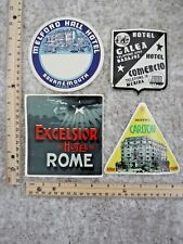 Four Foreign Hotel Luggage Labels~116626