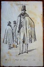 Mode Fashion Corriere delle Dame Moda di Francia Incisione n° 61 1832