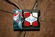 UPPER DECK THE CUP 2012 13 PK SUBBAN CUP FOUNDATIONS AUTO CARD 9 OF 15