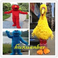 Big Bird Elmo Cookie Sesame Street Mascot Costume Party Fancy Dress AdultCosplay