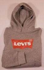 NWT Girls Levi's Gray Hoodie Levi's Batwing Logo ~ size Large  ~ 12-13 years