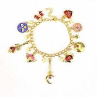Anime Sailor Moon Luna Moon Stick Metal Pendant Charm Bracelet Cosplay Gift