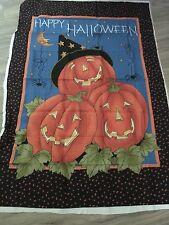 Crafts Pumpkin Door Banner Panel 28 X 42 100% cotton