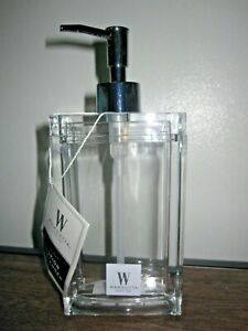Wamsutta Bath Lucent Large Glamour Bottle Lotion or Soap Dispenser Clear