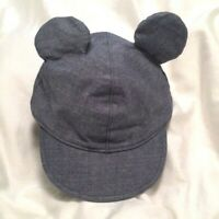 GAP Disney Mickey Mouse Hat Cap Denim Baby Infant Toddler Gift Present Accessory