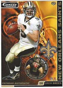 DREW BREES FATHEAD TRADEABLES PURDUE BOILERMAKERS REMOVEABLE STICKER 2008 #A6