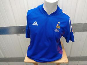 VINTAGE ADIDAS FRANCE NATIONAL FOOTBALL TEAM MEDIUM SEWN JERSEY 2002/03 KIT
