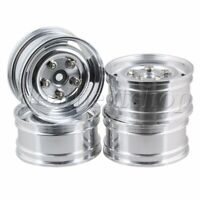 4pcs Silver Aluminum Wheel Rims Upgrade Sets for RC1:10 On-Road Racing Car