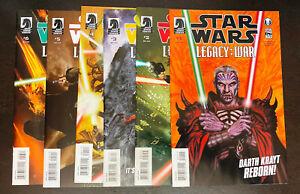 STAR WARS Legacy War (2011 Dark Horse) -- #1 (VF-) 2 3 4 5 6 -- FULL Series