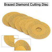 """Details about  /3/'/' 80mm Diamond Cutting Disc Brazed Saw Blades for Ceramic Stone 4//5/"""" Bore 5pcs"""