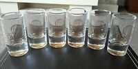 6 x Olmeca Tequila Shot Glasses boxed new