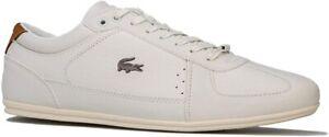 Lacoste Mens Gents Stylish Evara 319 Lace Up White Leather Trainer Size UK 10