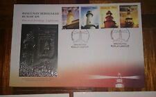 Royal Selangor Pewter Stamp FDC - 2004 Historical Buildings Lighthouse Rumah Api